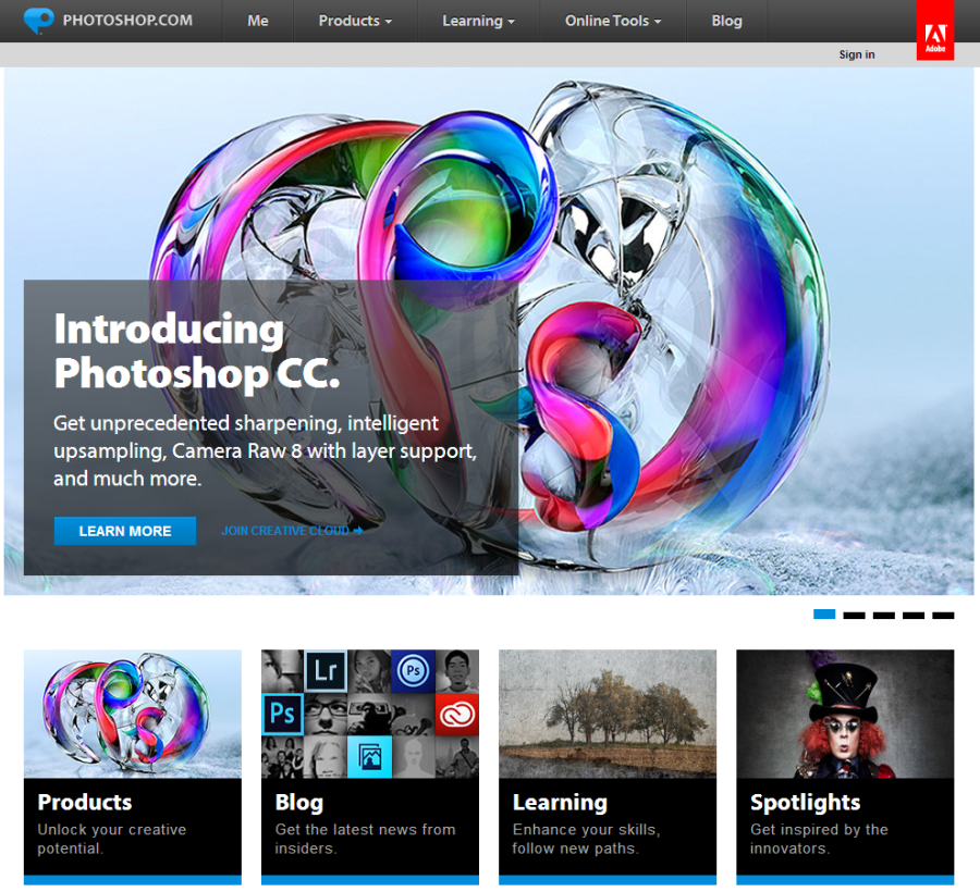 Photoshop Homepage