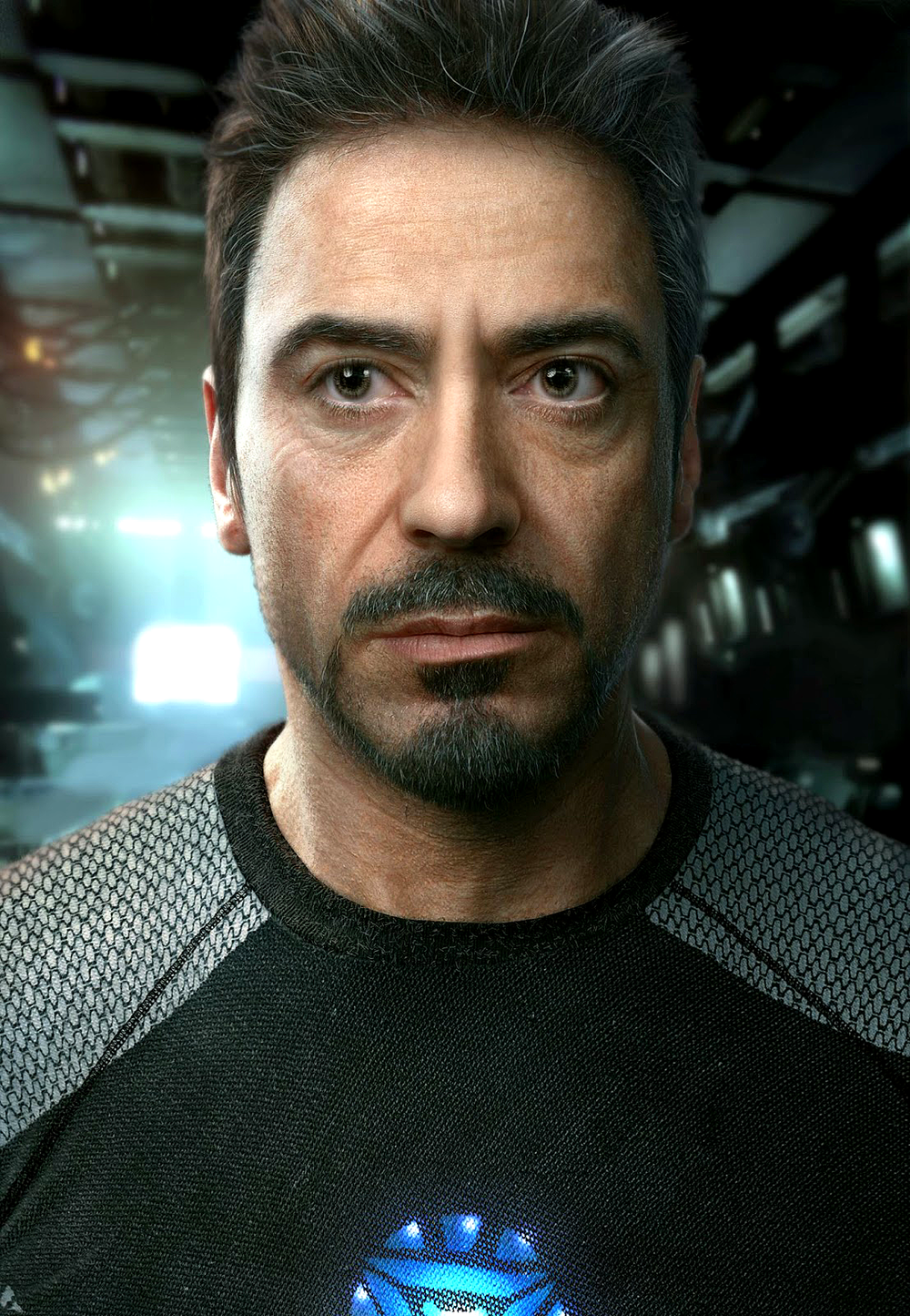 Realistic CG portrait of Robert Downey Jr – by Frank Tzeng and Yibing Jiang