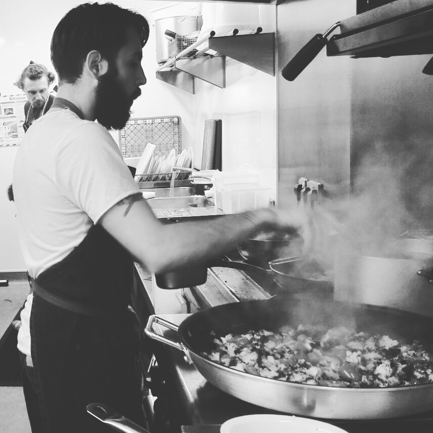 Chef at work. Orecchiette w/ broccoli chilli and cherry tomatoes