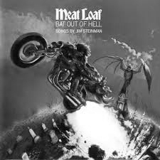 """Meatloaf """"Bat out of Hell"""" album cover"""