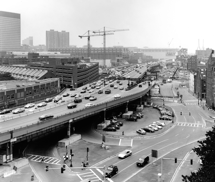 Elevated expressway Boston 1980