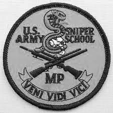 Sniper school shoulder patch