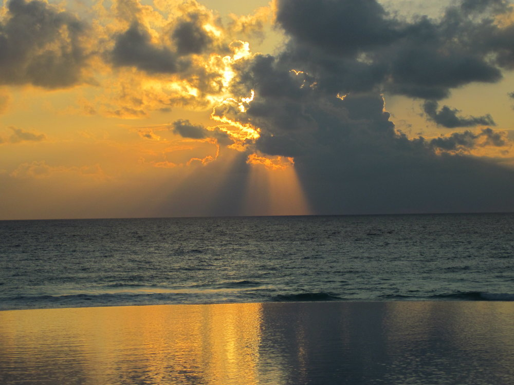 Sunrise off Quintana Roo