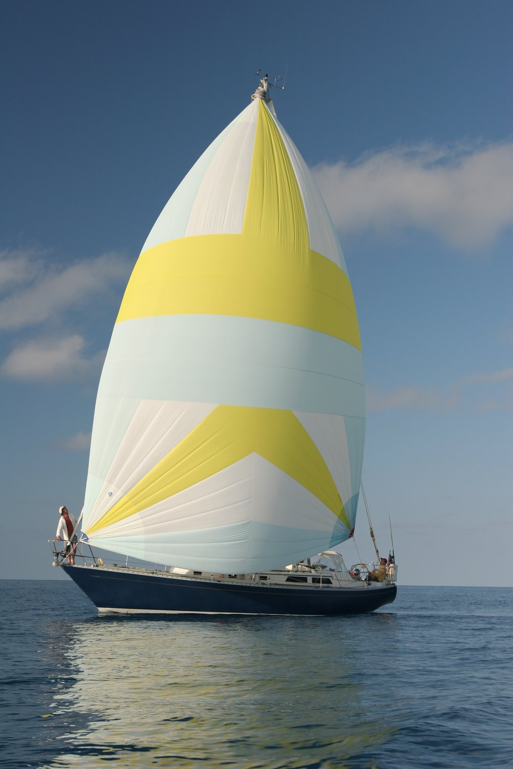 Tioga, an Alden 44, under sail off Bermuda