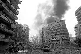 Beirut war zone 1980s