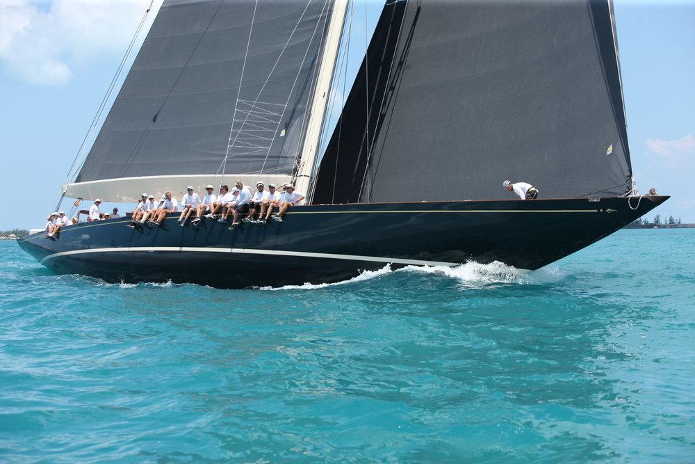 J-class boats race in Bermuda