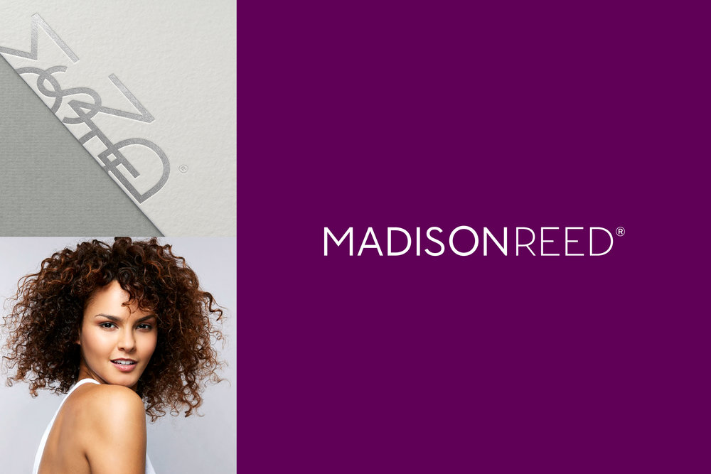 Logo  / I optimized the existing Madison Reed brand identity for 360º use.