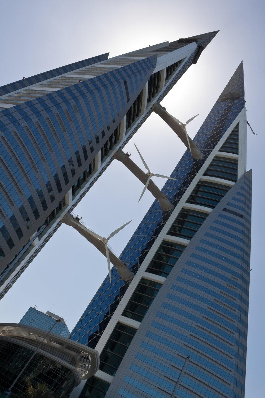 Building-integrated wind turbines (Bahrain)