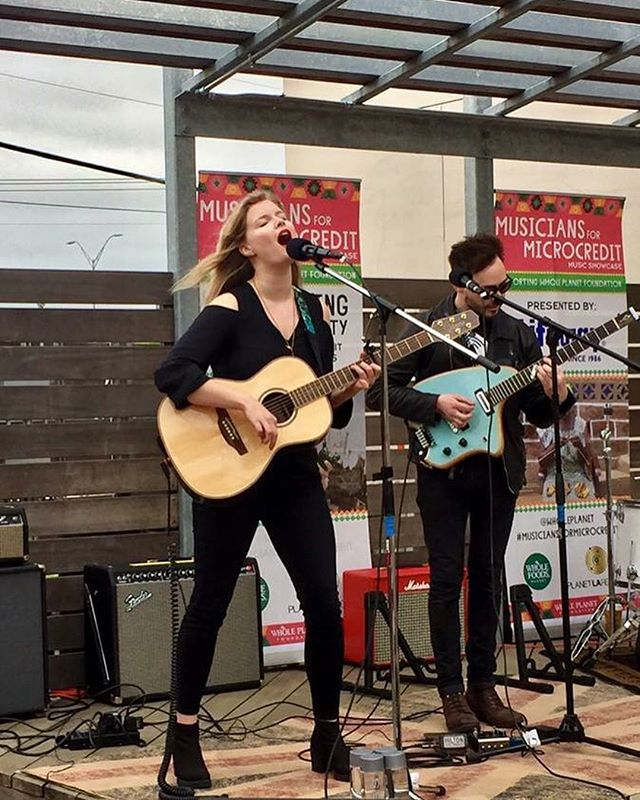 Rocking it out on a beautiful Whole Foods Market stage in Austin! Thank you #MusiciansForMicrocredit for including me in the showcase!! ✨🤘🎶