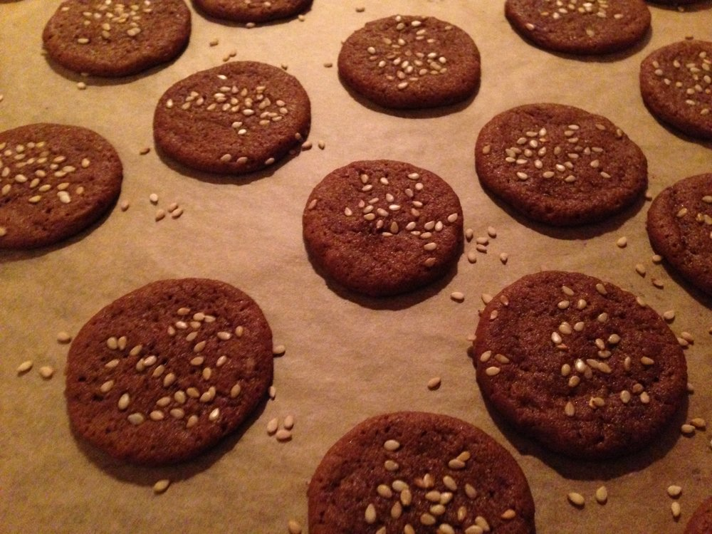 Sesame Spice Cookies