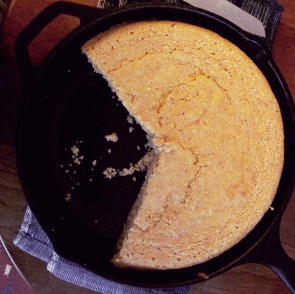 Cornbread (which also makes a nice Mrs. PacMan)