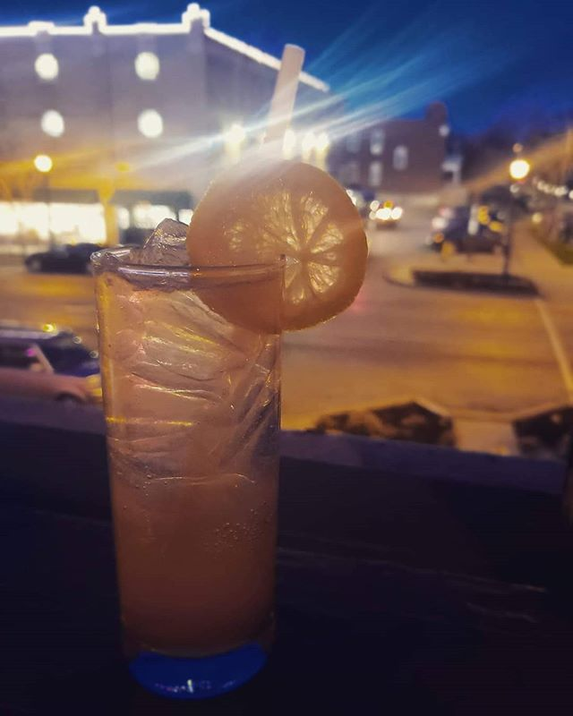 Aperol We've Been Through - Flora de Cana Rum, Aperol, fresh lemon juice, simple syrup and rhubard bitters topped with club soda.  We've got our windows open and refreshing cocktails until 1am tonight and tomorrow!