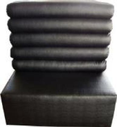 Black Emu Leather High Back Sofa
