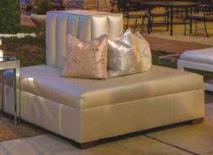 Pearl Leather 3-sided Ottoman