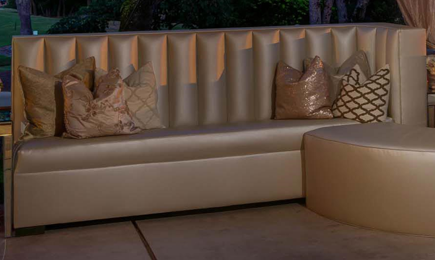 Pearl Leather Banquette