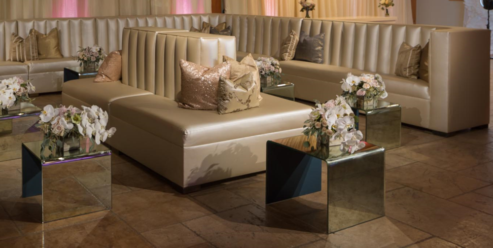 Pearl Leather Banquette Collection