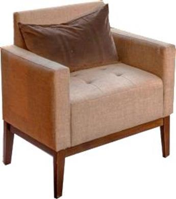 Linen Club Chair