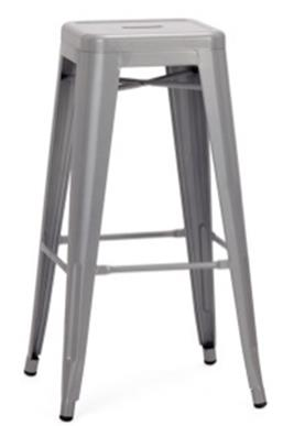 Galvanized Metal Bar Stool