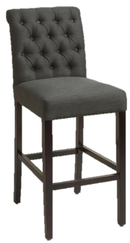 Pewter Tufted Bar Stool