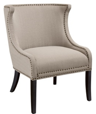 Demi Linen Accent Chair