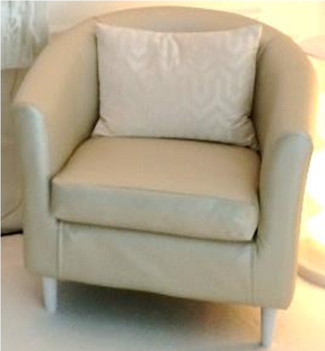 Pearl Leather Barrel Chair