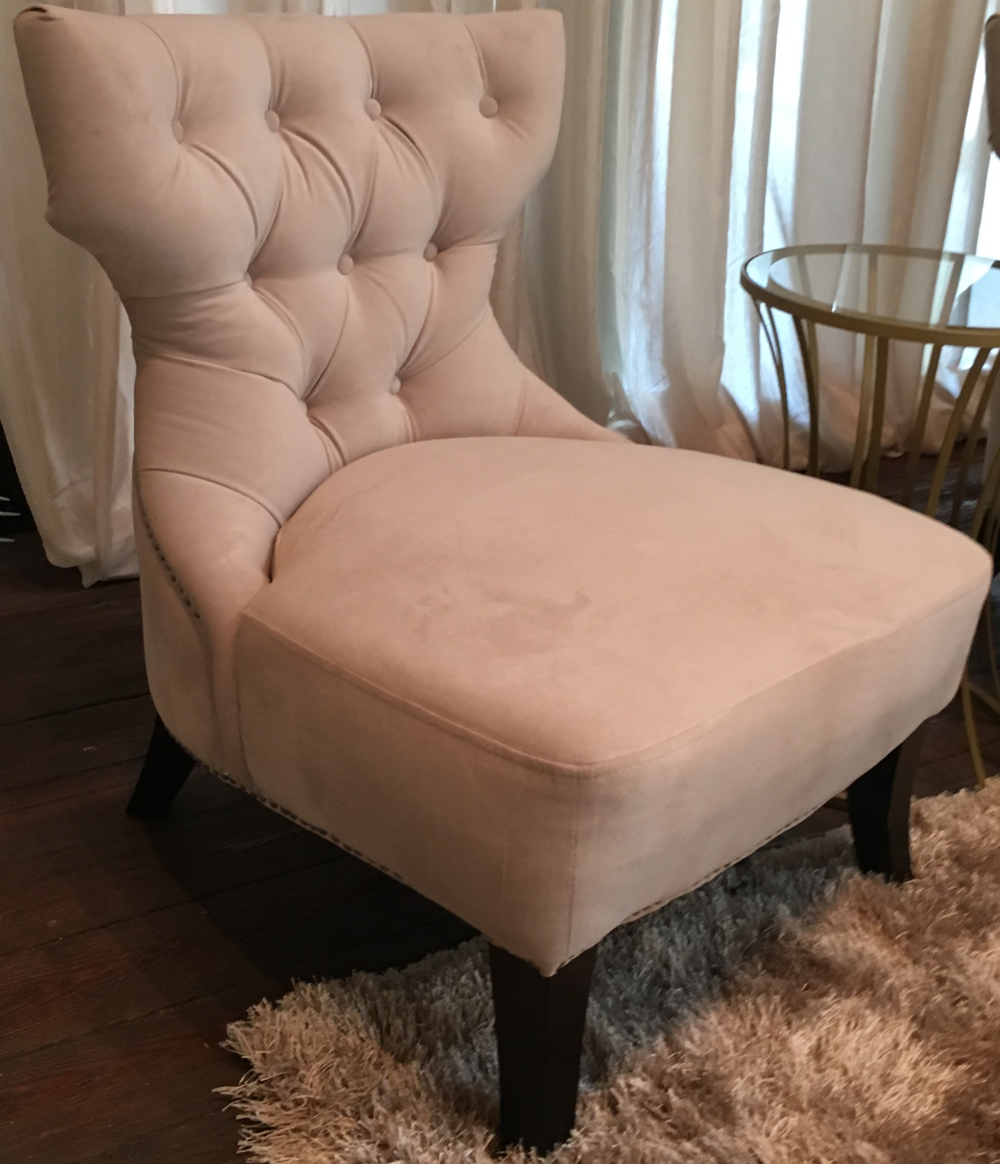 Tufted Velvet Regency Chair