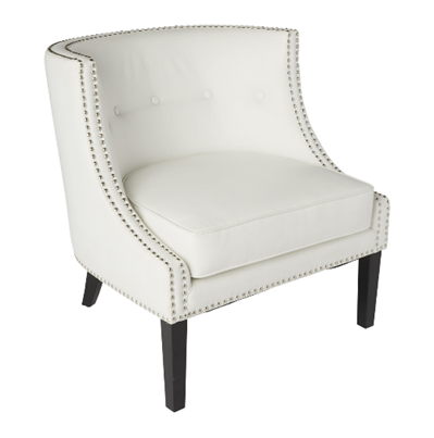 White Leather Demi Chair