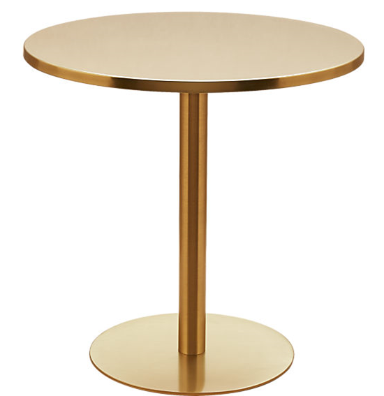 Brass Bistro Table