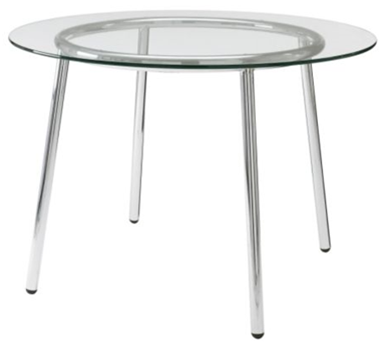 Chrome and Glass Table