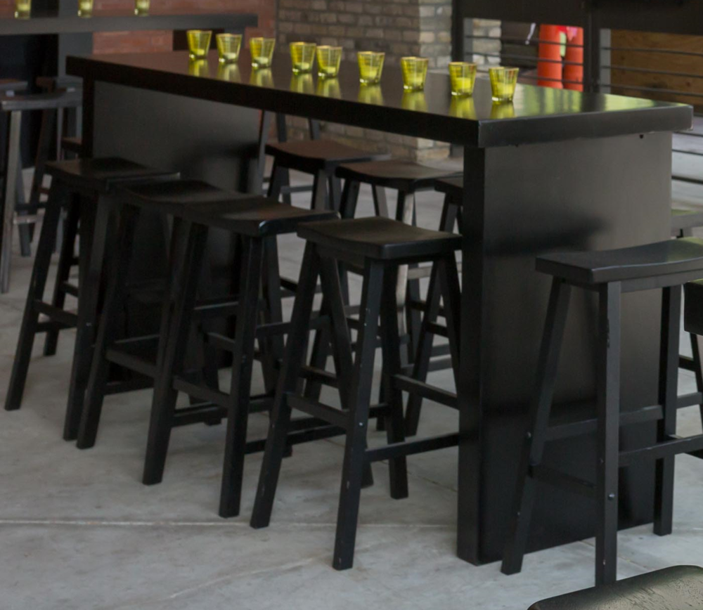 Black Communal Table (Custom Paint Options Available)