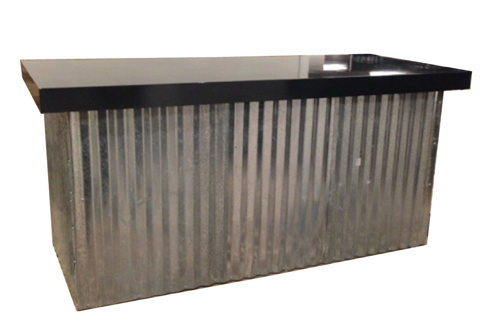 Corrugated Metal Food Table