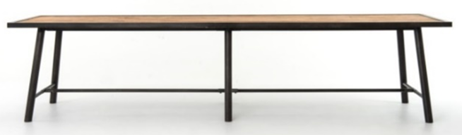 Iron and Wood Duke Dining Table