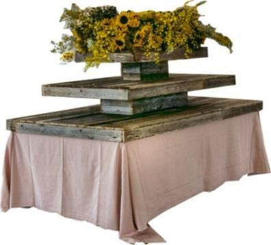 Rustic Tiered Table Cap