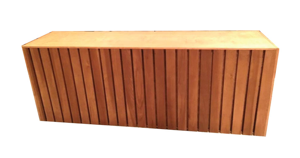 Slat Wood Food Table