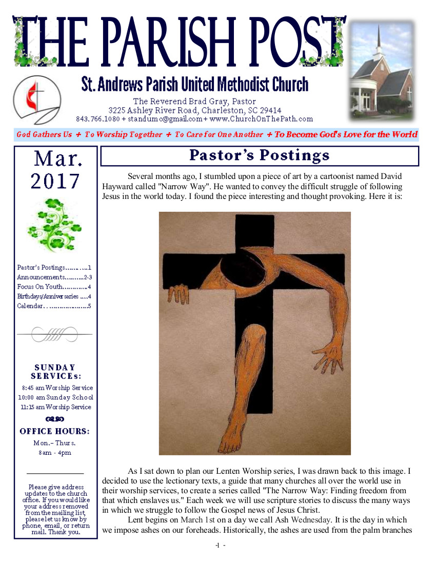 St. Andrews Parish UMC March 2017
