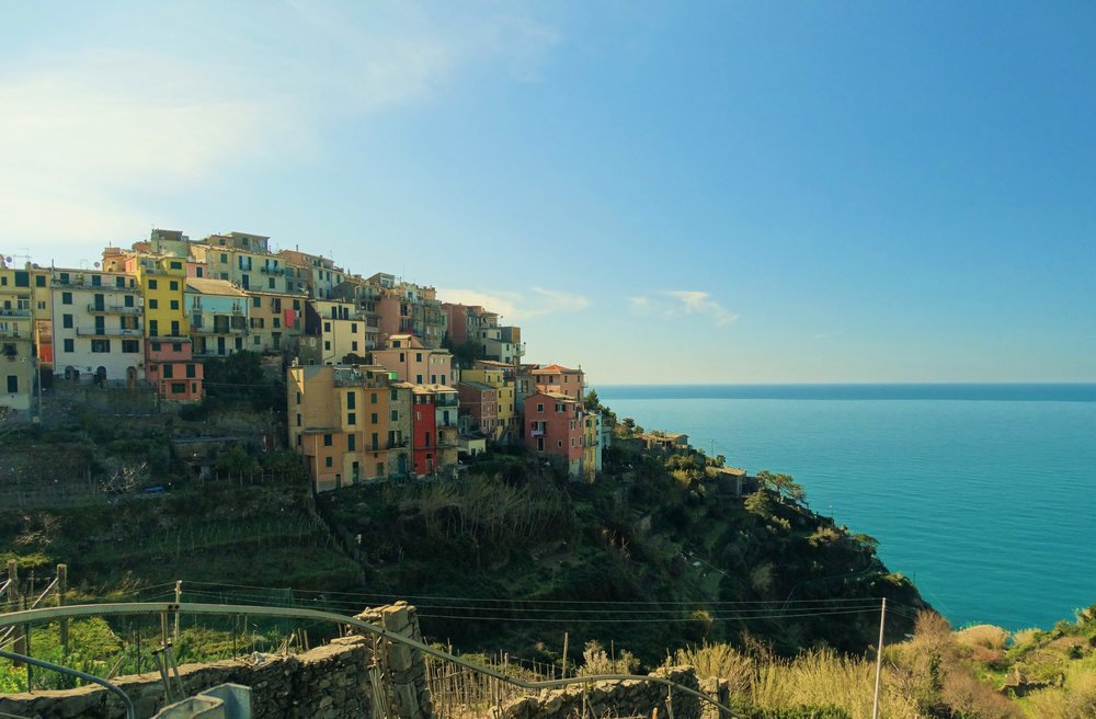 The view as we hiked away from Corniglia on our trek to Vernazza