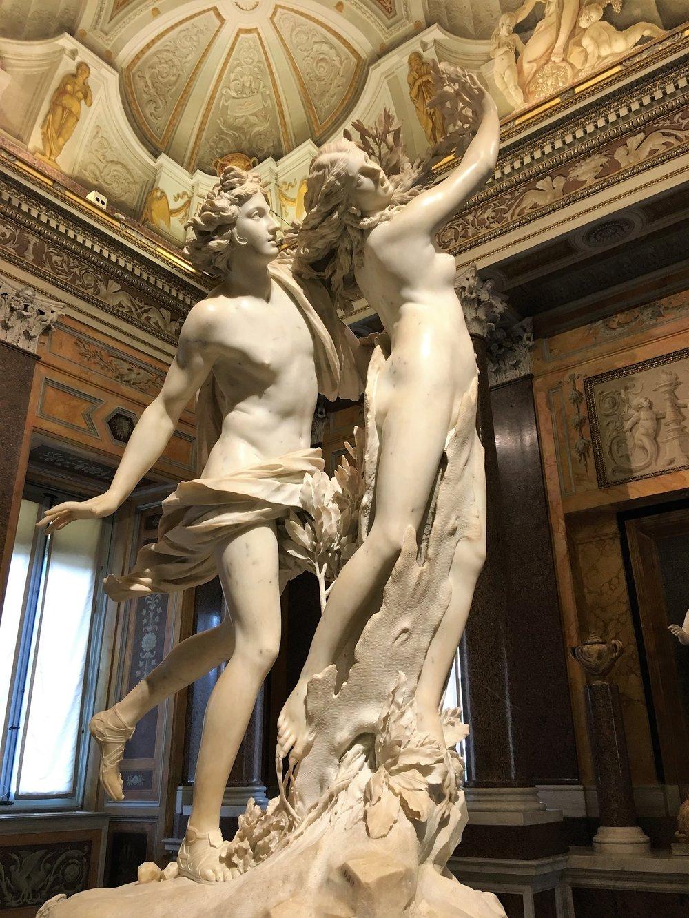 Apollo & Daphne at the Borghese