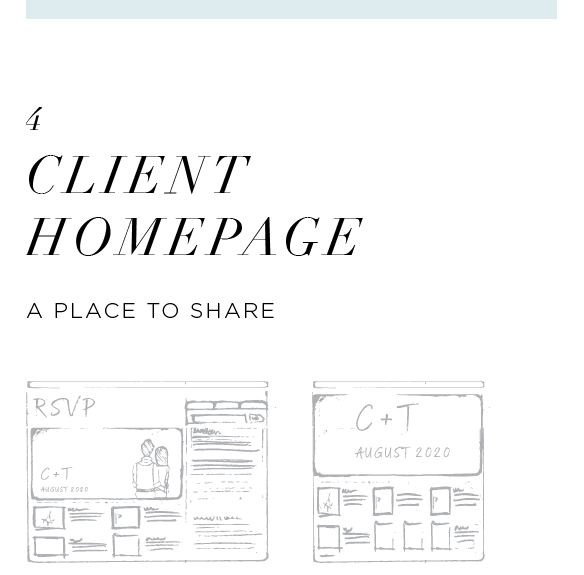 """They say, """"Sharing is caring"""", so that's exactly why we've built the Client Homepage just for you. This is where your beautiful photos and videos will live. But wait, there's more! With all our photography packages, you also receive an optional RSVP feature. Everything will live in one place in harmony. Namaste."""