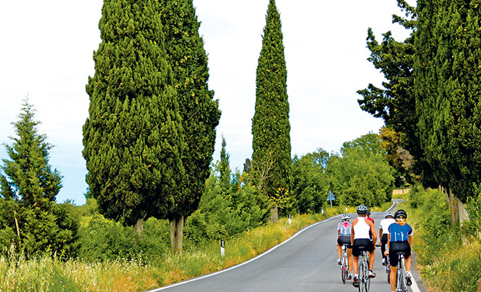 Cycling Tour in Tuscany and Rome, Italy (10 days, 2 people) - Do not miss this epic week of more than 400 miles and access to participate in two of Italy's most heralded bike races, all in one culinary and cycling vacation adventure! Start by racing in the infamous L'Eroica, which celebrates cycling in its purest form - white gravel roads and retro bikes, helmets and jerseys. Plus take part in vintage bike expo, festival and other special events in Chianti that weekend! Then you'll spend 3 days traversing the best biking routes in central Italy as we make our way to Rome to participate in the Gran Fondo Campagnolo Roma! This race, designed only for experienced riders, encompasses 75 miles with 5,500 feet of climbing and four timed climbs. The magnificent route passes by the Colosseum, Castelli Romani, Lake Albano, and the Terme di Caracalla. L'Eroica and Gran Fondo Roma race entries included. With all of this riding, you're going to work up an appetite. Reward yourself each night with a private gourmet meal prepared by Chef Fabio, or if he's not in the kitchen cooking, Fabio will select one of his favorite restaurants for locally-sourced food and exquisite wine.www.fabiotours.comDonor: Fabio FlagielloSeptember 28-October 8, 2017Medium to advanced cycling. Participants provide their own bikes. Flights not included.Opening Bid: $6,800    Value: $8,400