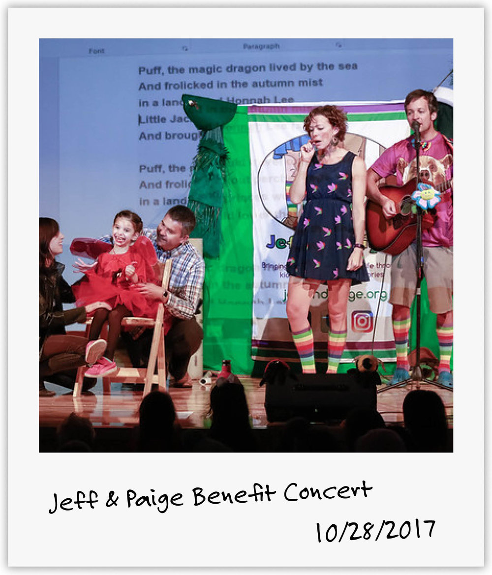 Jeff & Paige didn't even know our family but they went above and beyond to reach out to their fans and host a wonderful concert benefiting Mila!