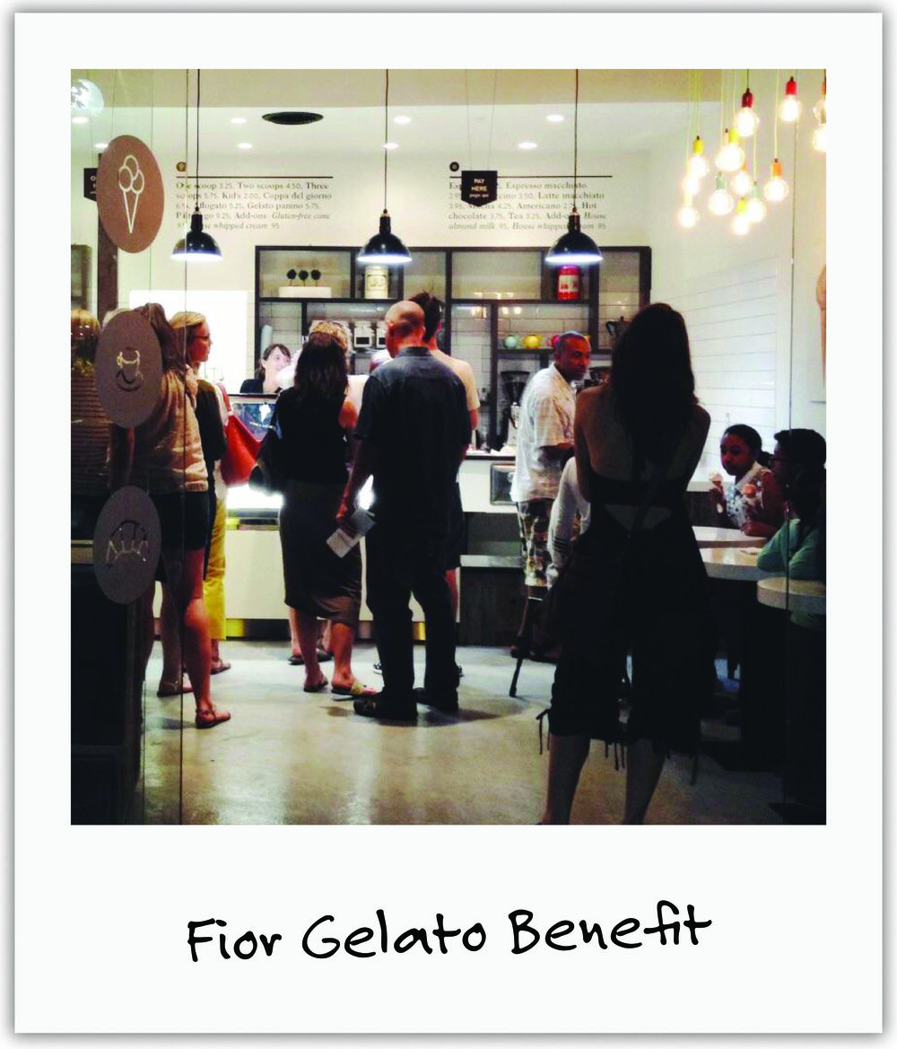 Local Fior Gelateria owners, Giulia + Bryce, dedicated their grand opening to us, with creamy gelato for Mila and friends,and all sales funding our trials.