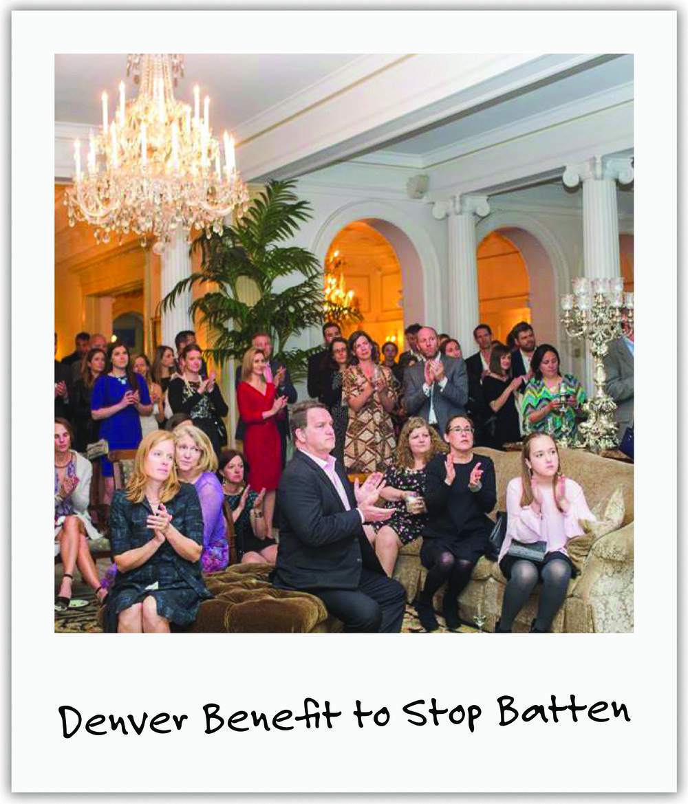 Led by friends Eliana and Linda, the Colorado Governor's wife and top chefs offered an elegant evening to benefit us.