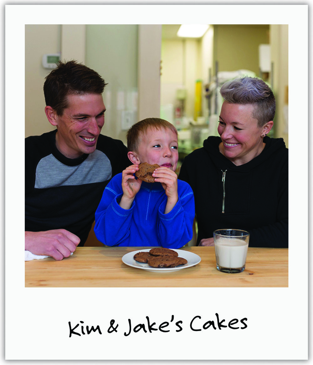 """Bakery owners Kim & Jake who """"met"""" Mila in birthing class before she was even born, have fought all year by our side - providing delicious gluten-free desserts at FIVE events and rallying restaurants, auction donors and friends and family."""
