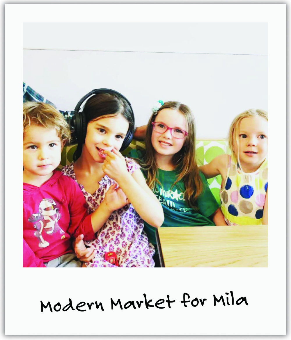 Good friend Giulia brought together local families at Mod Market for an evening of friends and food to benefit our foundation.
