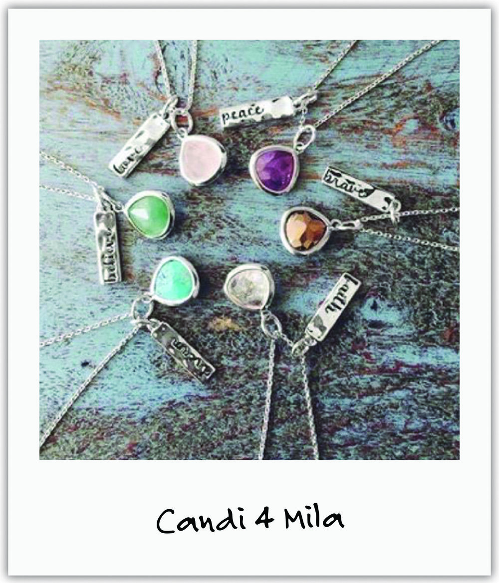 Love, Faith, Believe - perfectly appropriate mantras on necklaces from nikscandi, with all proceeds given to our foundation.