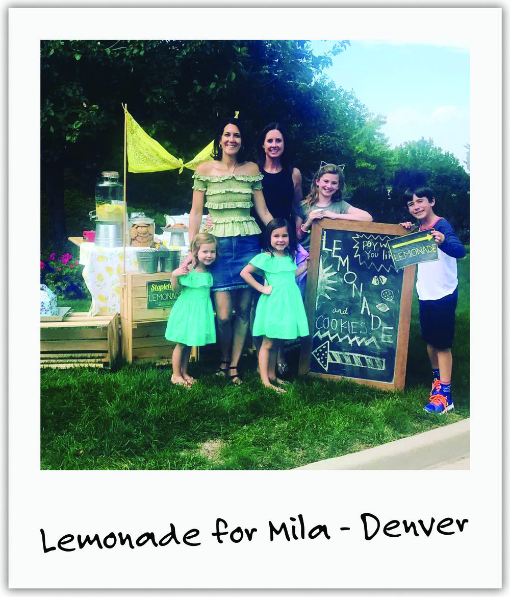 New friend Jenna and her family have rallied all year by our side - this time offering lemonade and treats to help us!