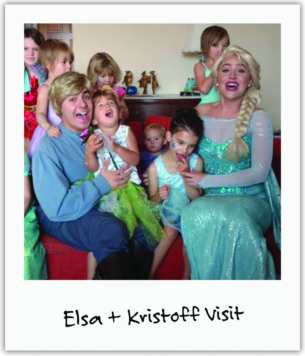 Kind friend Jenna organized a surprise visit of Mila's favorite Frozen characters, Elsa and Kristoff - a highlight of Mila's year!