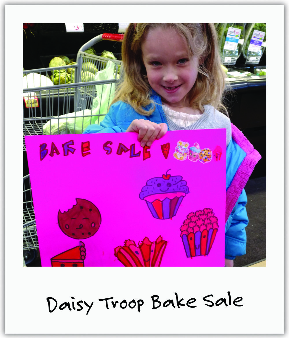 1st grade Girl Scouts from Colorado Daisy Troop ran the bake sale at the Jeff & Paige Benefit Concert and raised $690 for us!