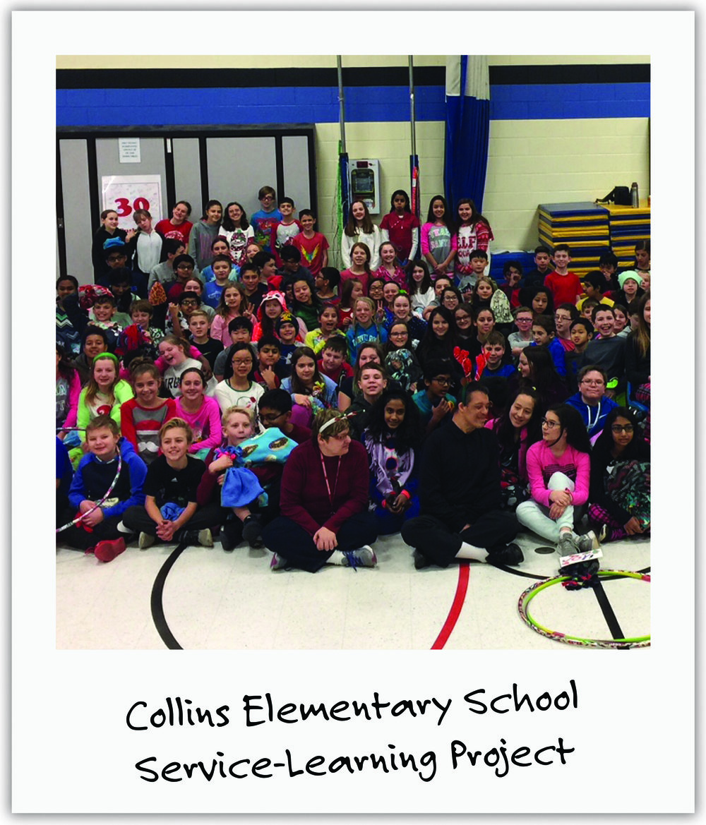 Collins Elementary, just outside Chicago, was so moved by Mila's story that they dedicated their Service Learning project to her!