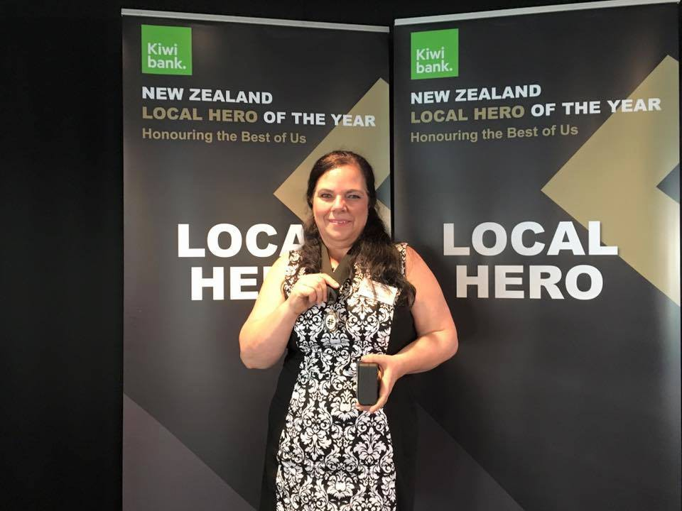 Karen with her Local Hero of the year medal